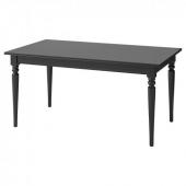 ИНГАТОРП Раздвижной стол,черный