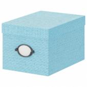 КВАРНВИК Коробка с крышкой,синий