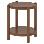 ЛИСТЕРБИ Придиванный столик,коричневый