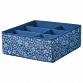 СТОРСТАББЕ Ящик с отделениями,синий,белый