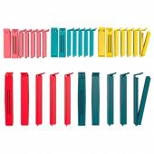 БЕВАРА Зажим для пакетов,30 штук,разные цвета,различные размеры
