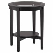 МАЛМСТА Придиванный столик,черно-коричневый
