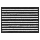 ВИНСТРУП Придверный коврик,черный/серый