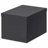 ТЬЕНА Коробка с крышкой,черный
