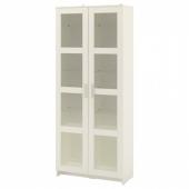 БРИМНЭС Шкаф-витрина,белый