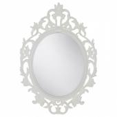 ВИКЕРСУНД Зеркало,овал,белый