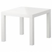 ЛАКК Придиванный столик,глянцевый белый