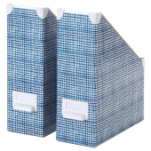 ФЬЕЛЛА Подставка для журналов,белый,синий