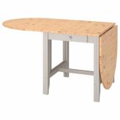 ГЭМЛЕБИ Стол складной,светлая морилка антик,серый