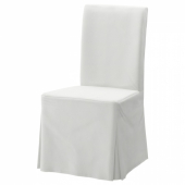 ХЕНРИКСДАЛЬ Чехол для стула, длинный,Блекинге белый
