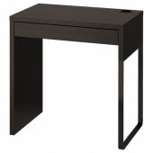 МИККЕ Письменный стол,черно-коричневый