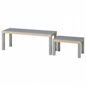 ЛАКК Комплект столов, 2 шт,серый