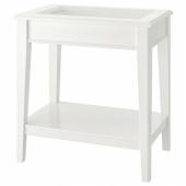 ЛИАТОРП Придиванный столик,белый,стекло
