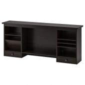 ХЕМНЭС Дополнительный модуль для стола,черно-коричневый
