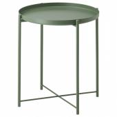 ГЛАДОМ Стол сервировочный,темно-зеленый