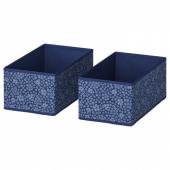 СТОРСТАББЕ Коробка,синий,белый