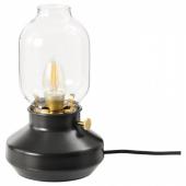 ТЭРНАБИ Лампа настольная, черный антрацит