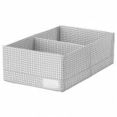 СТУК Ящик с отделениями,белый/серый