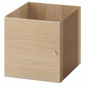 КАЛЛАКС Вставка с дверцей, под беленый дуб, 33x33 см