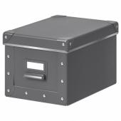 ФЬЕЛЛА Коробка с крышкой,темно-серый