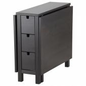 НОРДЕН Стол складной,коричнево-чёрный