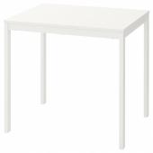 ВАНГСТА Раздвижной стол,белый