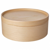МАЛЛГРОДА Емкость с крышкой, ясеневый шпон, 25x10 см