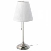 ОРСТИД Лампа настольная, никелированный, белый