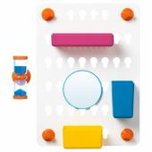 ЛОДДАН Панель с аксессуарами,6предм.,с присосками,разные цвета разные цвета