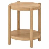 ЛИСТЕРБИ Придиванный столик,белая морилка дуб