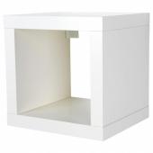 КАЛЛАКС Стеллаж, белый, 42x42 см