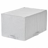 СТУК Сумка для хранения,белый/серый