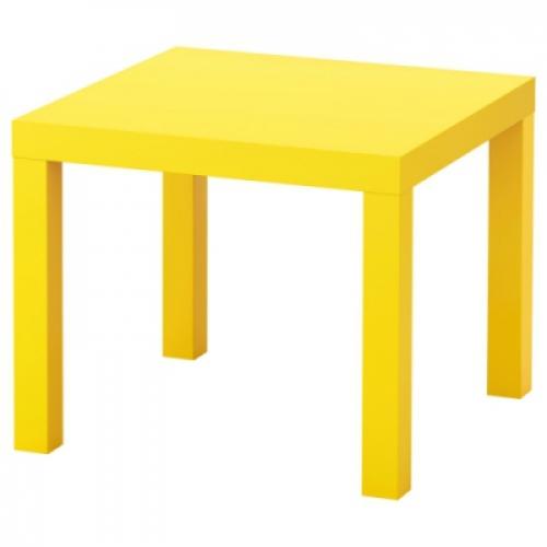 ЛАКК Придиванный столик,желтый