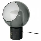 ЭВЕДАЛЬ Лампа настольная,серый,шаровидный