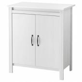 БРУСАЛИ Шкаф с дверями,белый
