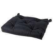 МАЛИНДА Подушка на стул, черный, 40/35x38x7 см