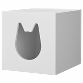 КАЛЛАКС Домик для кошки,белый