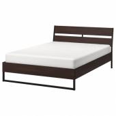 ТРИСИЛ Каркас кровати, темно-коричневый, Лурой, 160x200 см