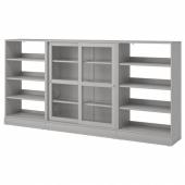 ХАВСТА Комбинация с раздвижными дверьми, серый, 283x37x134 см
